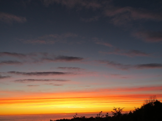 Sunrise 20th April 2015  - from our deck in Kaikoura