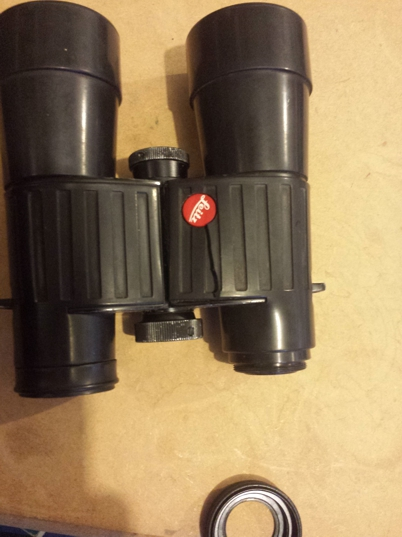 binoculars with eye ring removed.